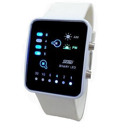 Reloj de pulsera para niños (binario, LED digital, impermeable, para deportes, casual): Amazon.es: Relojes