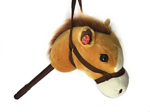 Children's Adjustable Horse & Stick w/galloping Sound, Light Brown, 36 inch. (Linzy T.)