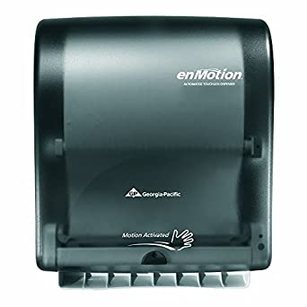 Beautiful Georgia Pacific Enmotion 59462 Classic Automated Touchless Paper Towel  Dispenser, Translucent Smoke Part 6