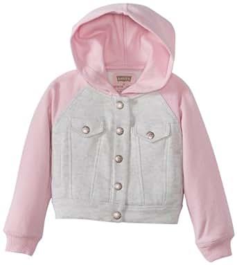 Levi's Little Girls' Abigail Hoodie, C Grey, 2T
