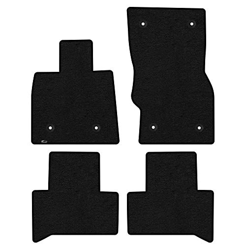 Lloyd Mats Custom Floor Mats - Alfa Romeo Stelvio 2018-On 4Pc Front & Back Set Carpeted Custom Fit Mats, Charcoal (Dark Gray) - -LogoMat Fits Model Years 2018, 2019.