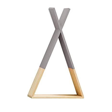 Yanhonin Regal Tipi Aus Holz Wandregal Aufbewahrung Regal Fur Kinderzimmer Baby Diy Dekoration