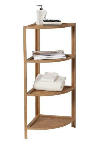 Creative Bath Eco Styles 4-Shelf Corner Tower, Natural/Bamboo by Creative Bath (Image #1)