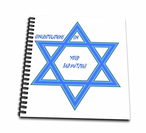 3dRose db_51462_2 Bar Mitzvah Congratulations Memory Book, 12 by 12-Inch