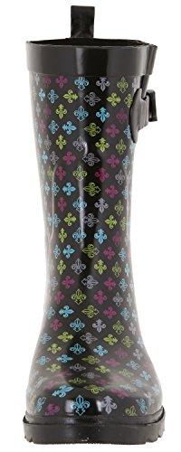 Capelli New York Ladies Parapluie Imprimé Mi-mollet Pluie Botte Multi Combo Geo
