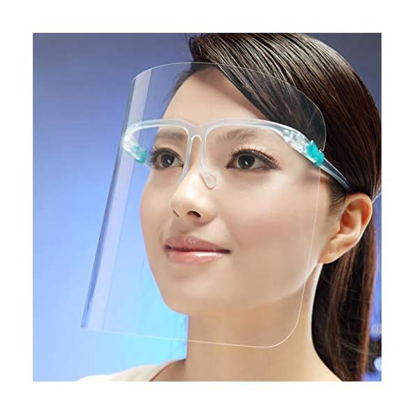 TOPBATHY-8-Stcke-Gesichtsschutzschild-Sicherheit-Gesichtsschutz-mit-Visier-Schutzhelm-Gesichtsschutzschirm-Klar-Schutzbrille-Gesichtsschild-fr-Arzt-Outdoor-Arbeit-Kche