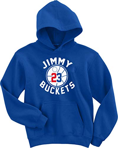 KINGSTON SHIRTS Blue Philadelphia Jimmy Buckets Logo Hooded Sweatshirt Adult