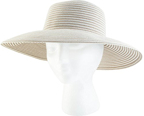 Sloggers Braided Wide Hat, Spring Bunch Tan, UPF 50+  Maximum Sun Protection, Style 4404TN