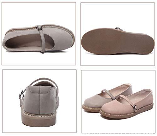 Mary Para Mocasines Plano Un Literario Talón Zapatos Dulce Mujer Vintage Otoño Jane Z8rnwd8q