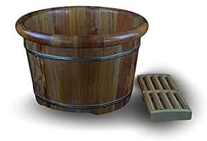 Amazon Com 16 Quot Solid Tsubaki Wood Foot Basin Tub Bucket