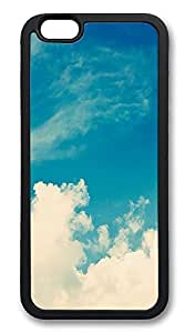 iPhone 6 Cases, Blue Skies Durable Soft Slim TPU Case Cover for iPhone 6 4.7 inch Screen (Does NOT fit iPhone 5 5S 5C 4 4s or iPhone 6 Plus 5.5 inch screen) - TPU Black