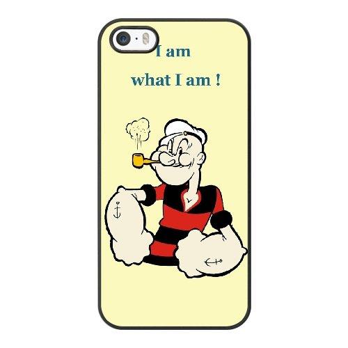Coque,Coque iphone 5 5S SE Case Coque, Popeye Cover For Coque iphone 5 5S SE Cell Phone Case Cover Noir