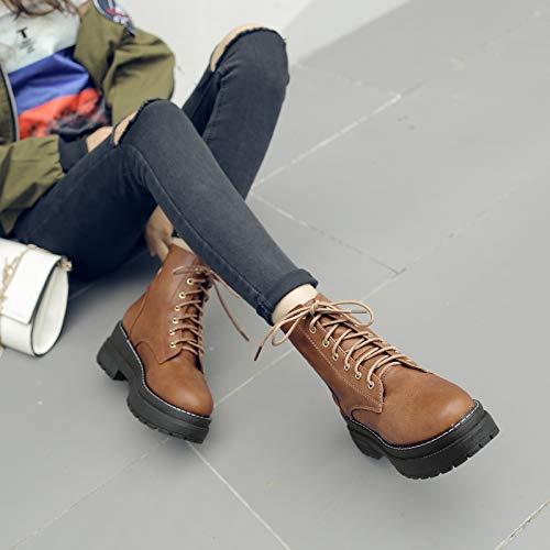 Cute girl Martin Stiefel Damen Stiefel Stiefel Stiefel Herbst Und Winter's Britische Fan Stiefel Damen Stiefel Mit Hohen Absätzen, Stiefel Stiefel Tide 045c19