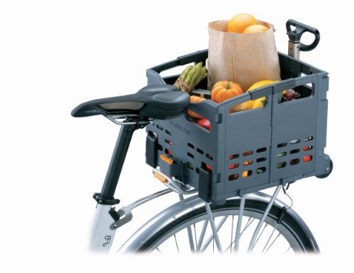 Topeak Fahrradkorb TrolleyTote Folding MTX, Gray, One Size, TB2008