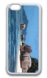Adorable Island Rock La Digue Seychelles Soft Case Protective Shell Cell Phone Cover For HTC One M8 - TPU White