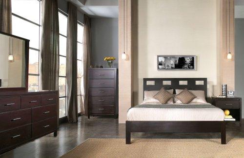 Modus Nevis 5 Piece Queen Riva Platform Bedroom Set in Espre