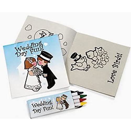 Childrens Wedding Activity Sets 12 Count Toys Reception Coloring Book