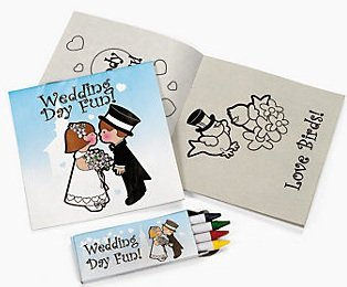 Children's Wedding Activity Sets (12 Count)/Toys/Reception Activity/Coloring Book -