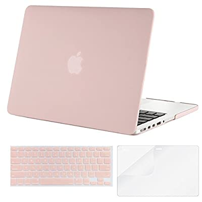 Mosiso Plastic Hard Case with Keyboard Cover with Screen Protector for Macbook Pro Retina 13 Inch No CD-ROM