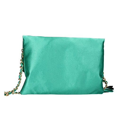 VIRGINIA'S SECRET Bolsa de embrague Mujer Verde Satén AF186