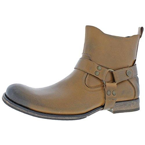 Jump J75 Mens Wild X Western Rustic Ankle Boots Brown 12 Medium ()