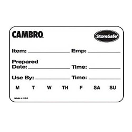 Cambro Storesafe Food Rotation Label, 2'' x 3'', Label -