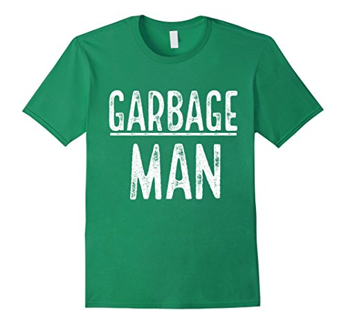 Costumes For Men Simple (Mens Garbage Man Shirt Simple Halloween Costume Large Kelly Green)