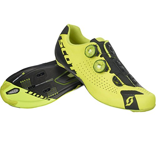 Scott 2017 Hombres Road Rc Bike Shoes - 251812 (amarillo Neón / Negro - 44)
