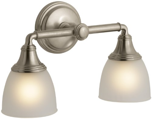 KOHLER K-10571-BV Devonshire Double Wall Sconce, Vibrant Brushed Bronze Collection Double Wall Sconce