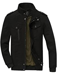 Men's Cotton Stand Collar Lightweight Military Windbreaker Jacket