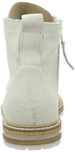 Mjus 733209-0601-6001, Botas Biker para Mujer Blanco (Bianco)