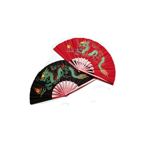 - Bamboo Dragon Chinese Fighting Fan Red