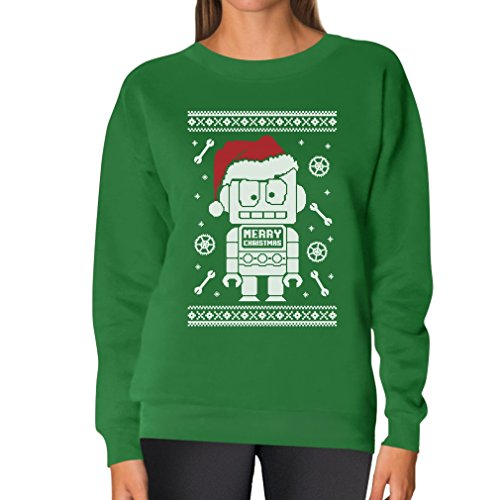 Retro Robots Ugly Christmas Holiday Sweaters