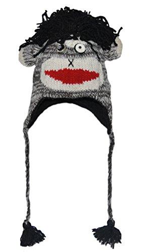 Black Rock Sock Punk Monkey Animal Hat Adult - 40 Animals for Child/Adult