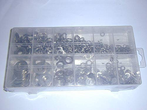 790pc Stainless Steel Flat Spring Washer Assortment: