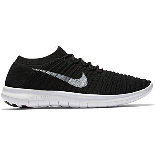 Nike Women's Free Running Motion Flyknit Shoes, Black/white-volt-dark Grey - 7.5 B(M) US