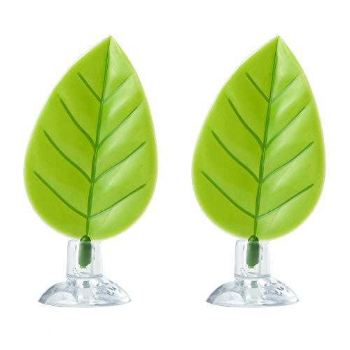 Ediff 2 Pack Betta Hammock, Betta Fish Leaf Pad, Plastic Aquarium Plants with Suction Cup (Deep Green + Deep Green) (Best Toys For Betta Fish)