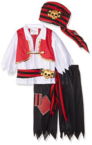 Ahoy Matey Pirate Toddler Costume Toddler (3-4) (Costume Pirate Toy)