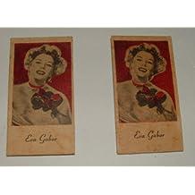Vintage Engrav-o-tints Penny Weight Machine Tickets Featuring Eva Gabor