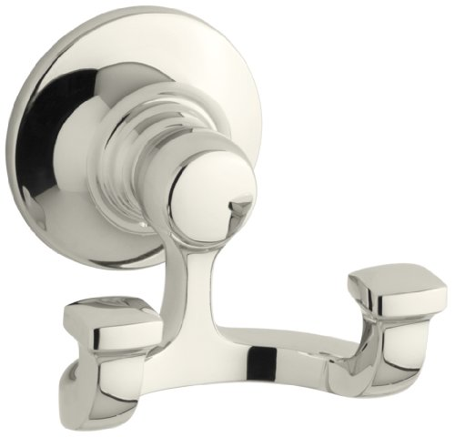 - Kohler K-11414-SN Bancroft Robe Hook, Vibrant Polished Nickel