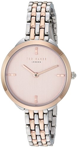 Ted Baker Women's Elana Quartz Watch with Stainless-Steel Strap, Two Tone, 10 (Model: TE15198006