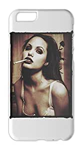 Angelina Jolie Smoking Sexy Iphone 6 plastic case