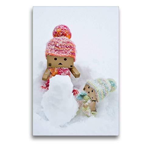 CALVENDO Spass Toile en Textile de qualité supérieure Motif Bonhomme de Neige 50 x 75 cm