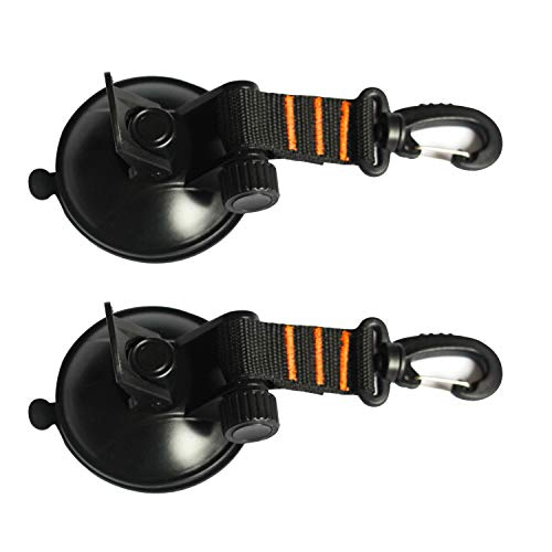 (Onefeng Sports SUP Suction Cup Tie Downs Suction Mount - 2 Pack)