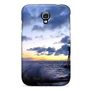 New Fashionable Dreaming Your Dream Cover Case Specially Made For Galaxy S4(lookout Tower At A Rough Seashore)