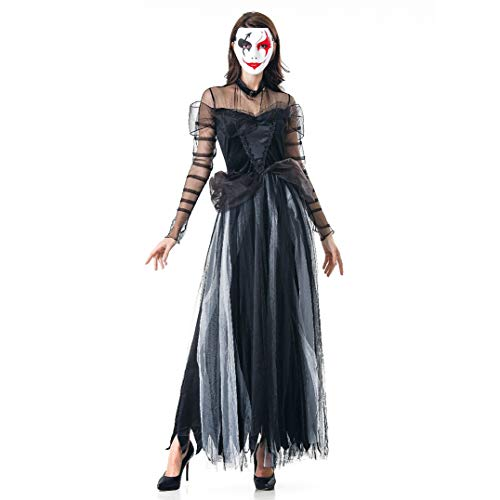 Kalwason Halloween Costumes Women's Gothic Dress Costume Adults