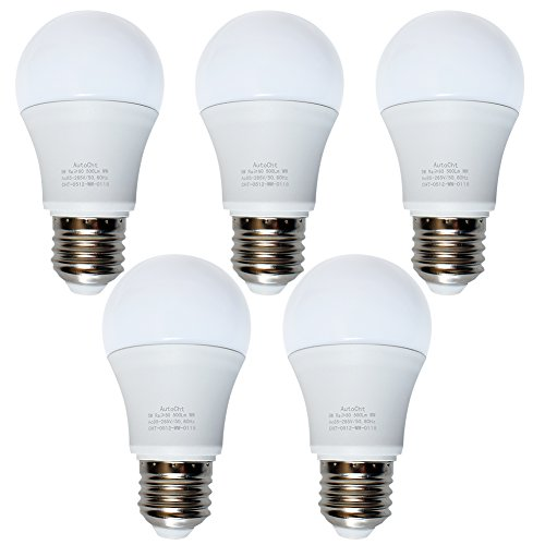 40 Watt incandescent Equivalent LED Light Bulbs 5w Appliance Warm Soft White A17 450 Lumens e26 Medium Base Lighting for Home or Decorative, Pack of 5
