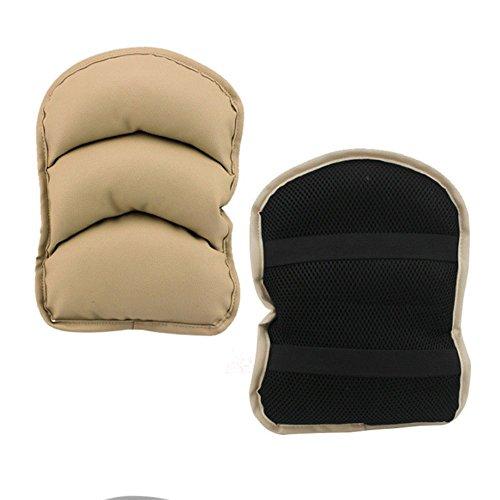 GETHIS Luxury PU Soft Car Armrest Seat Cushions Armrest Pillow Pad for Car Center Armrest Console Cover Cushion Durable Wear Mat (Beige) (Pads Arm Adams)