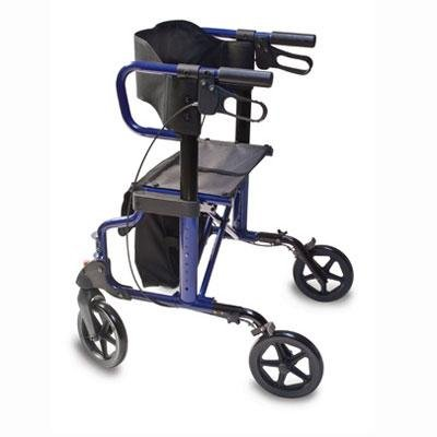 Lumex Hybrid Rollator Transport Chair, Titanium