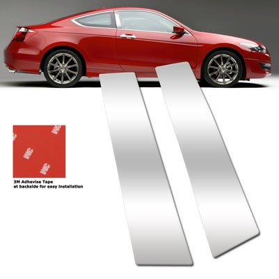 RS TYPE For 2008-2010 Honda Accord Coupe Stainless Chrome Door Pillar Post Trims ()